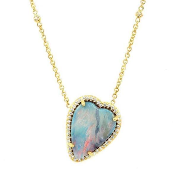 Closeup photo of Boulder Opal Layla Necklace