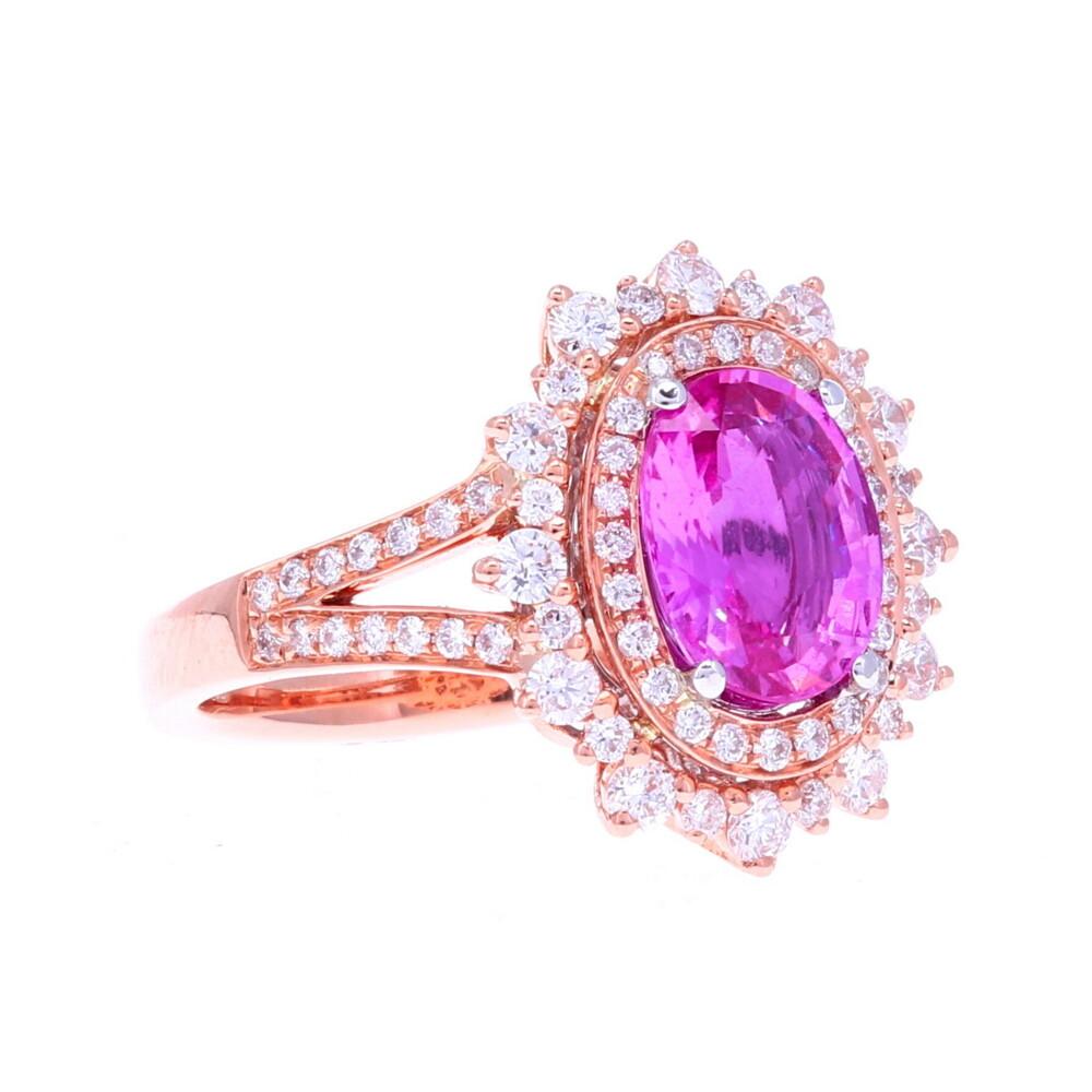 18k RG Pink Sapphire Ring