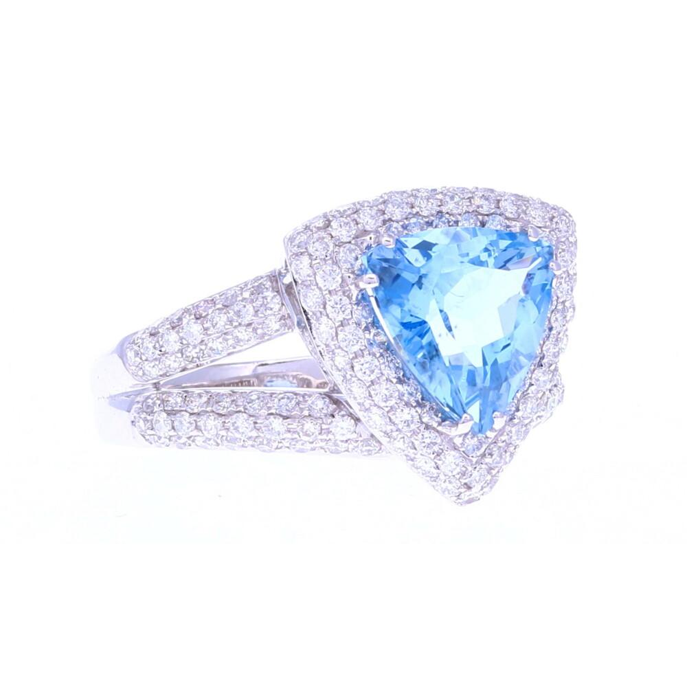 18k WG Santa Margarita Aquamarine Ring
