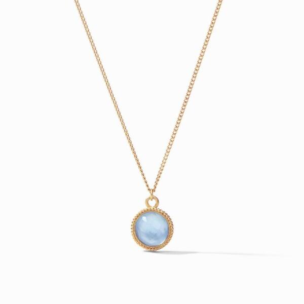 Closeup photo of Fleur-de-Lis Solitaire Necklace