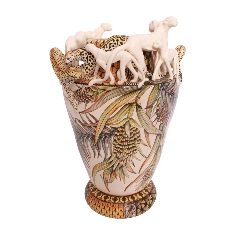 Cheetah &Amp; King Cheetah Vase