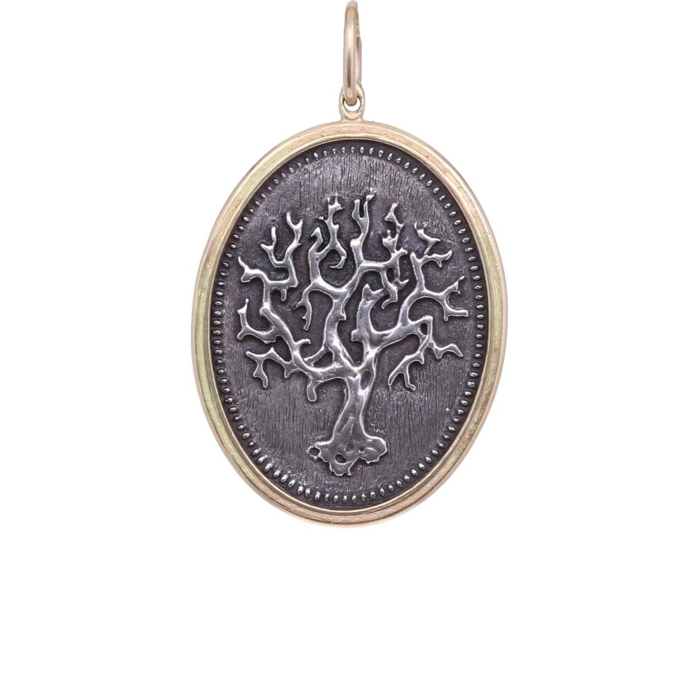 18k Old Gnarly Tree Pendant