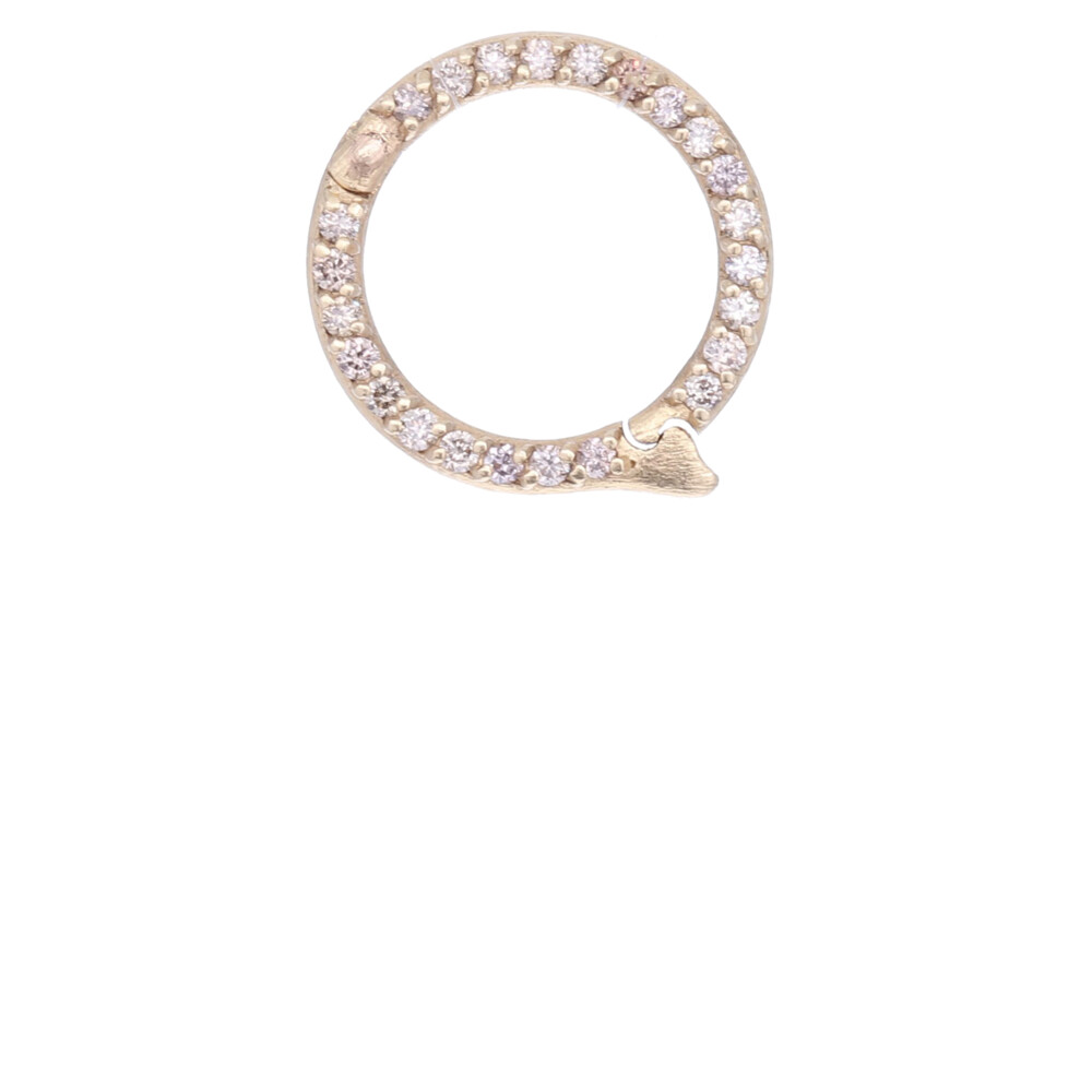18k Large Diamond Charm Bale
