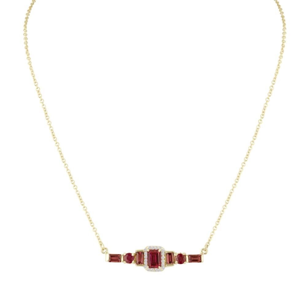 Pink & Diamond Bar Necklace