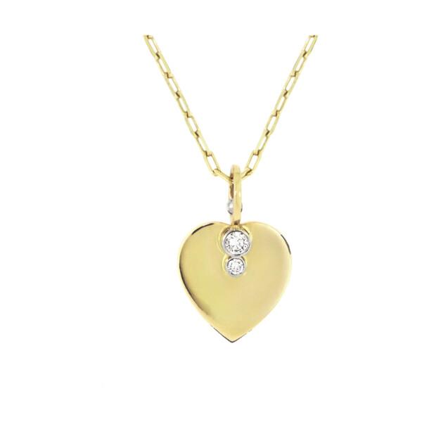Closeup photo of Diamond Heart Necklace