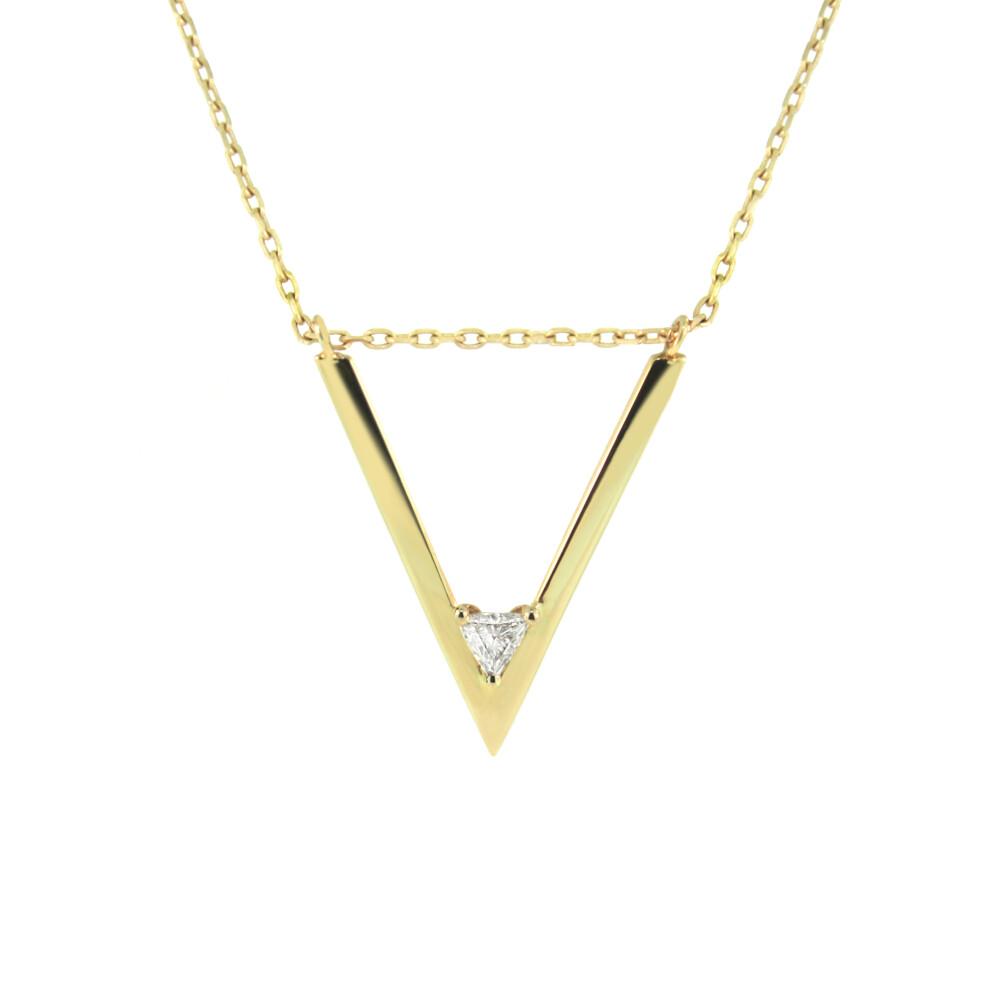 V Trillion Diamond Necklace