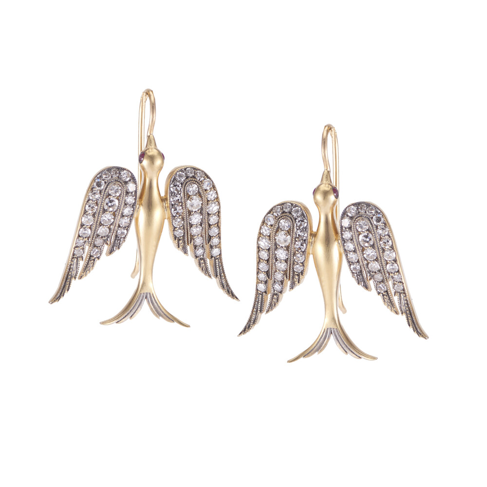Large Swallow Earrings