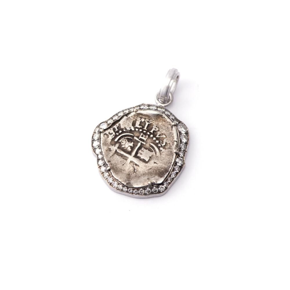Ship Wreck Spanish Coin Pendant
