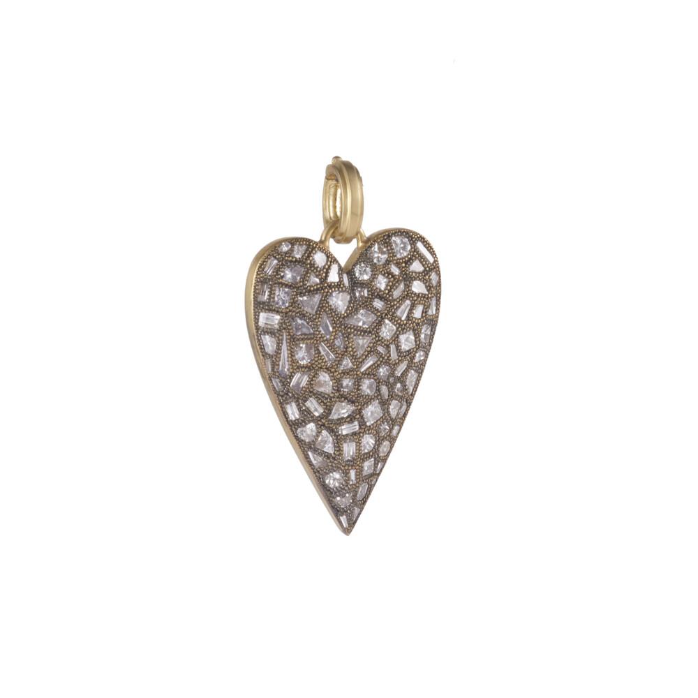 Mixed Cut Diamond Heart