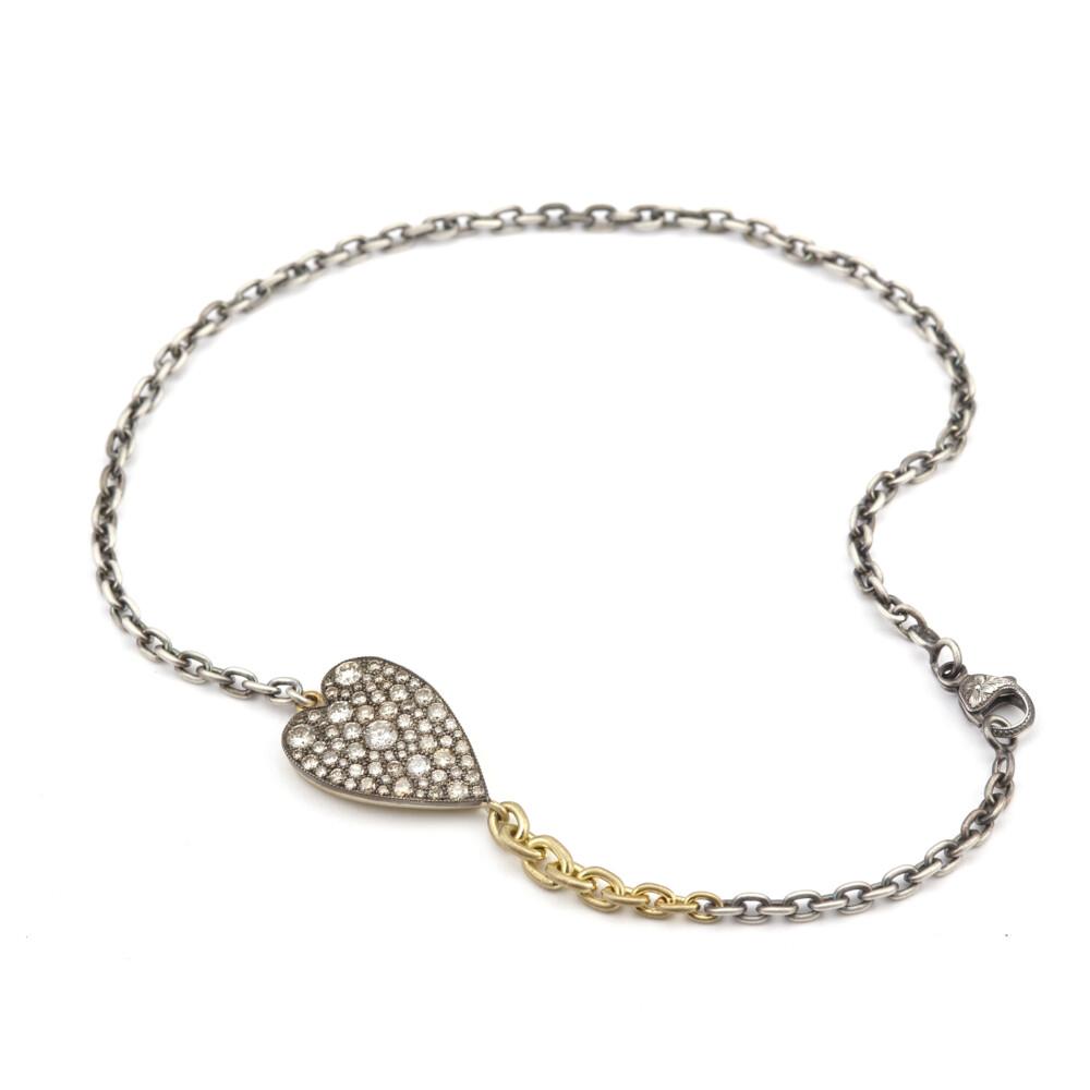 Champagne Heart Ten Table Double Wrap Bracelet