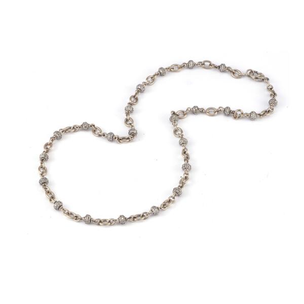 Closeup photo of Diamond Bead Necklace