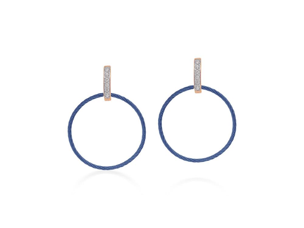 Blueberry Petite Drop Circle Earrings
