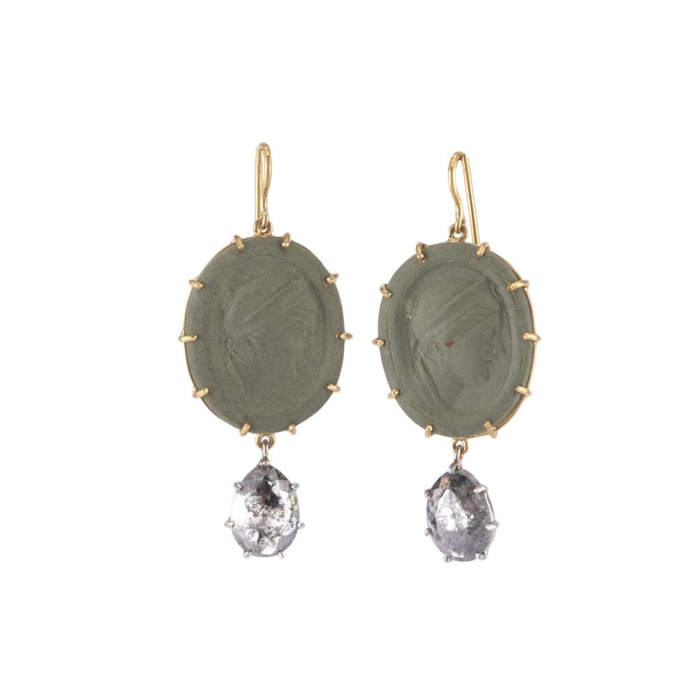 Lava Cameo Earrings