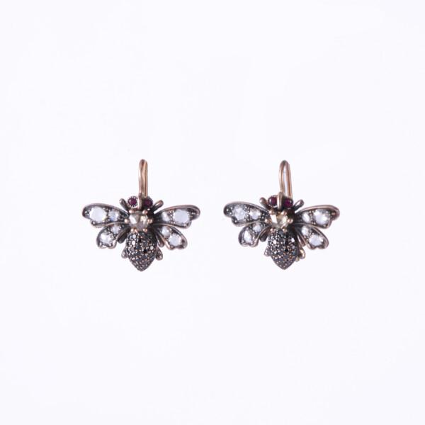 Closeup photo of Bee Earrings