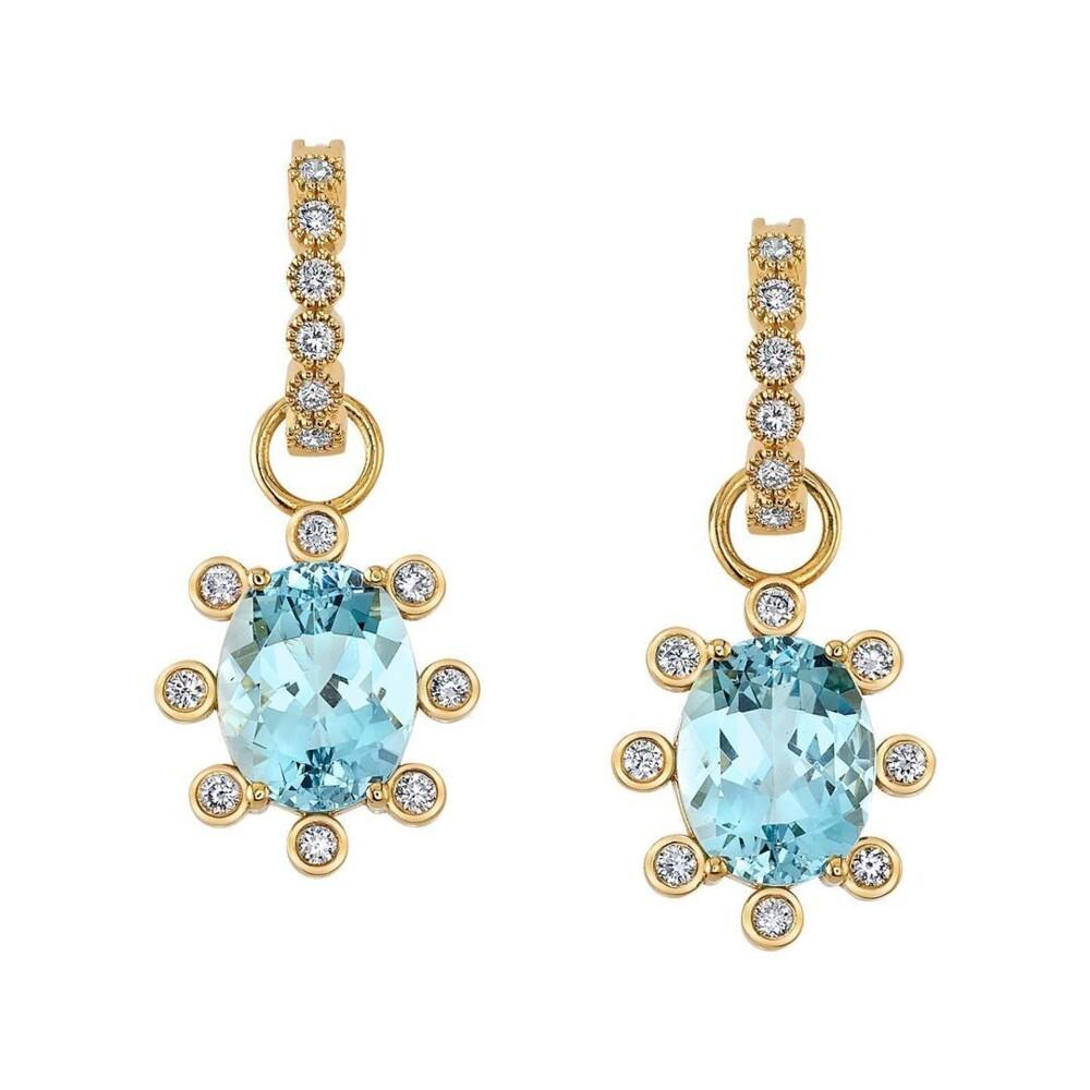 Lizzie Earrings - Aqua 3.40tcw