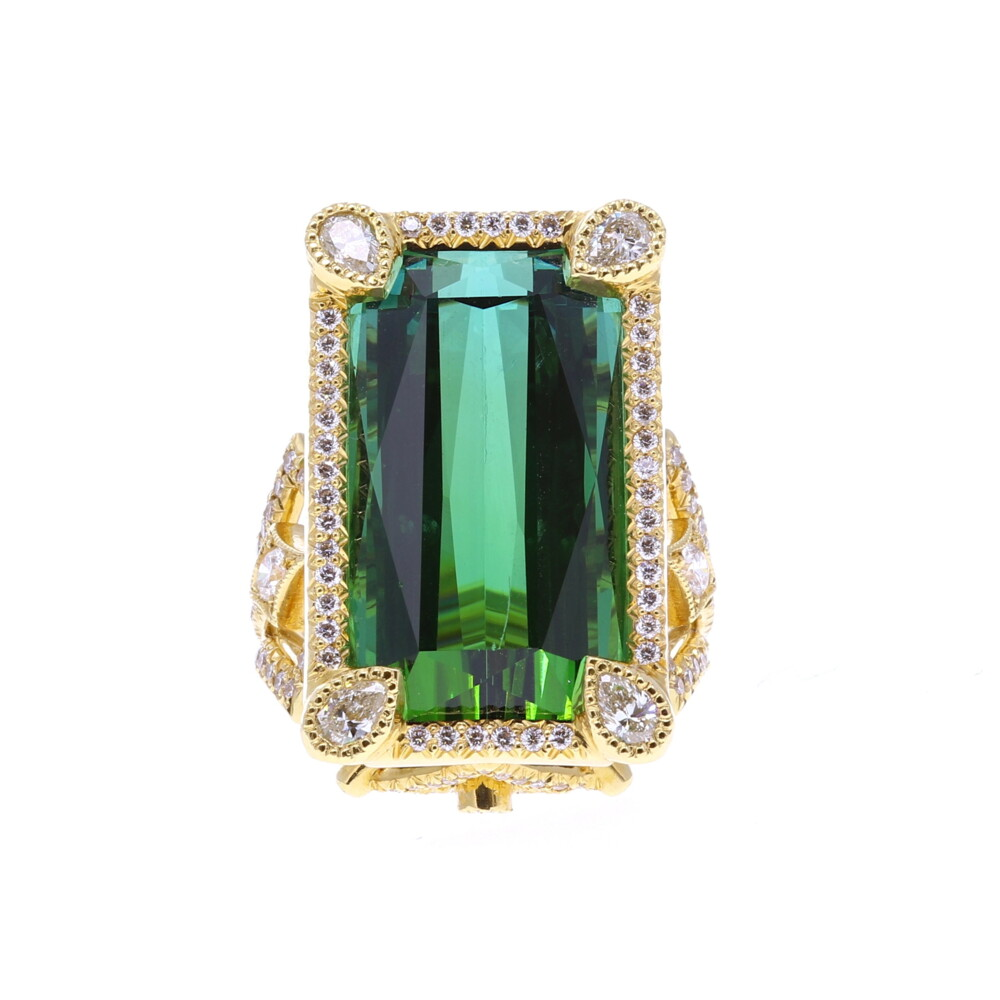 Coco Ring Modified with Green Tourmaline