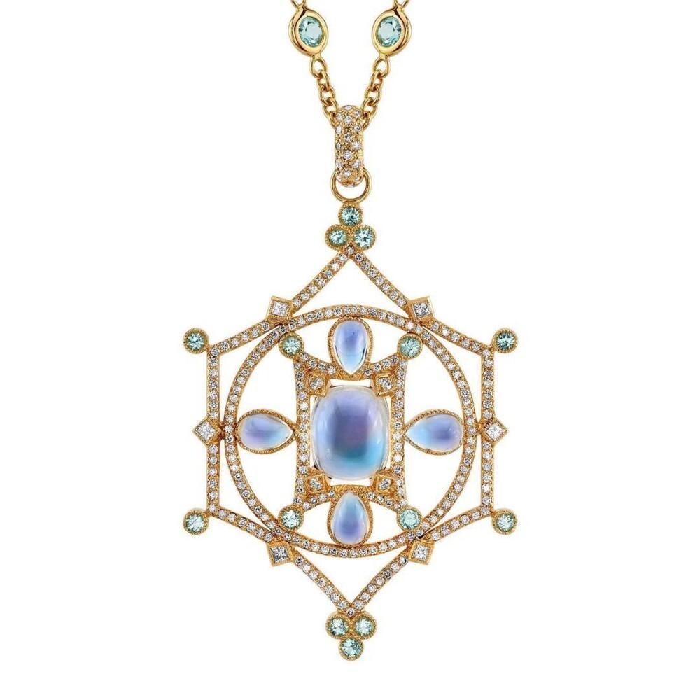 """Mandala """"Mary"""" - Moontone & Paraiba"""
