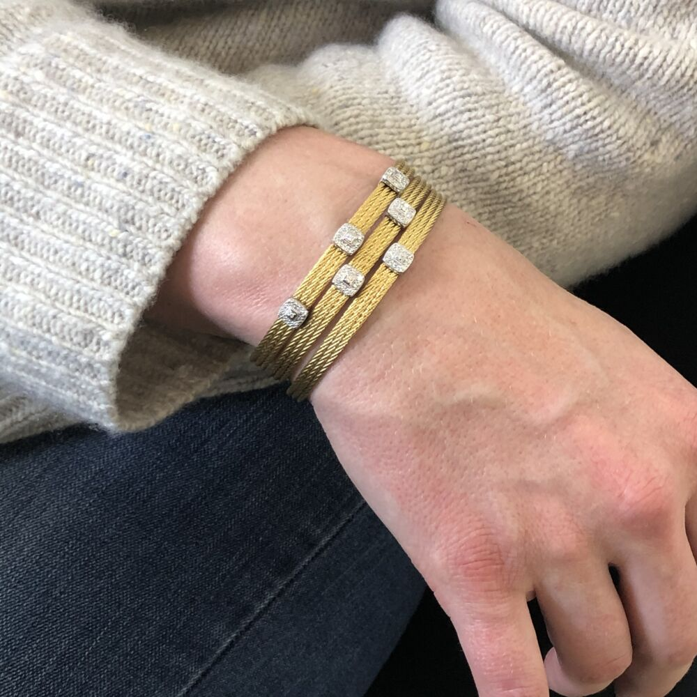 Yellow Two Squared Station Bangle
