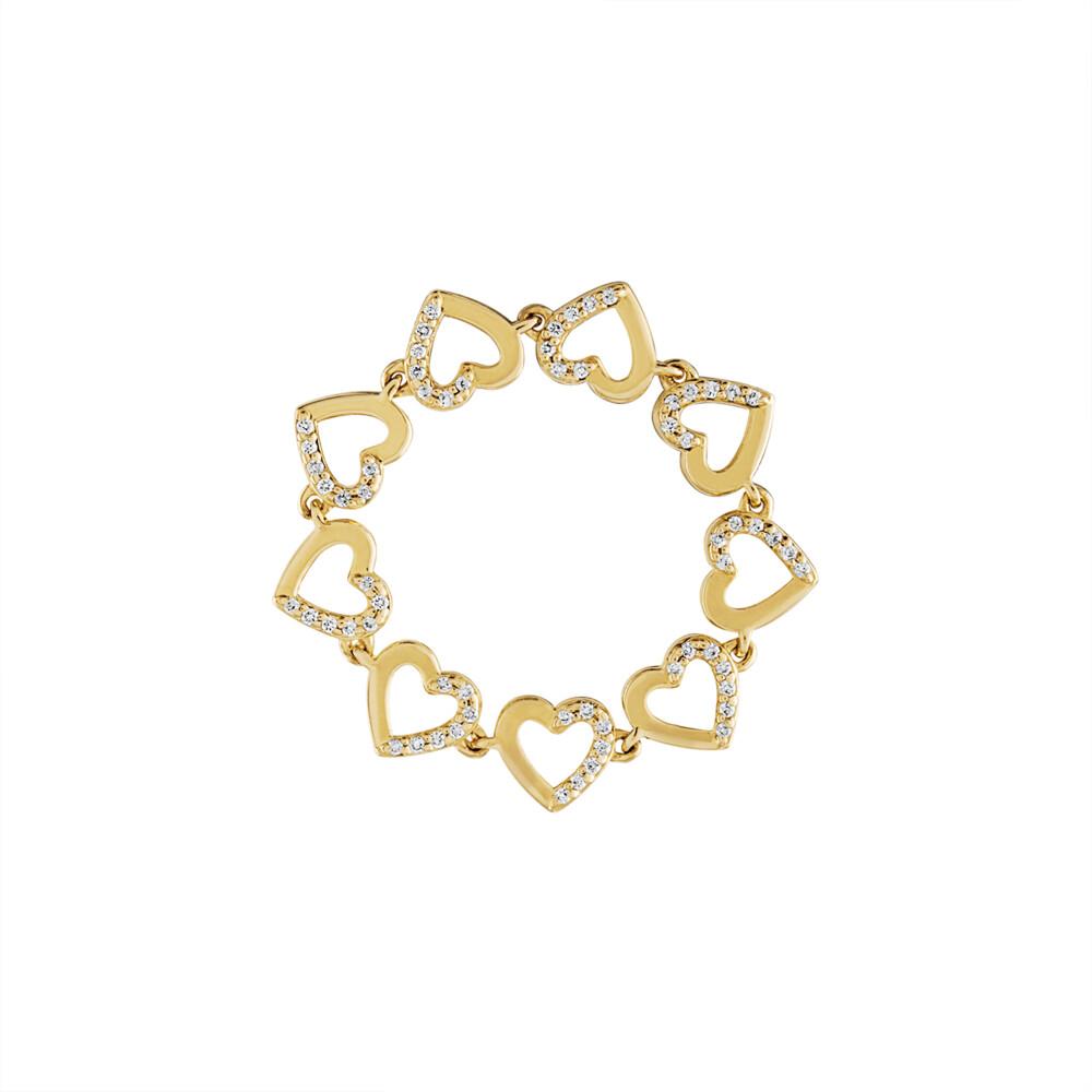 Tiny Hearts Chain Ring