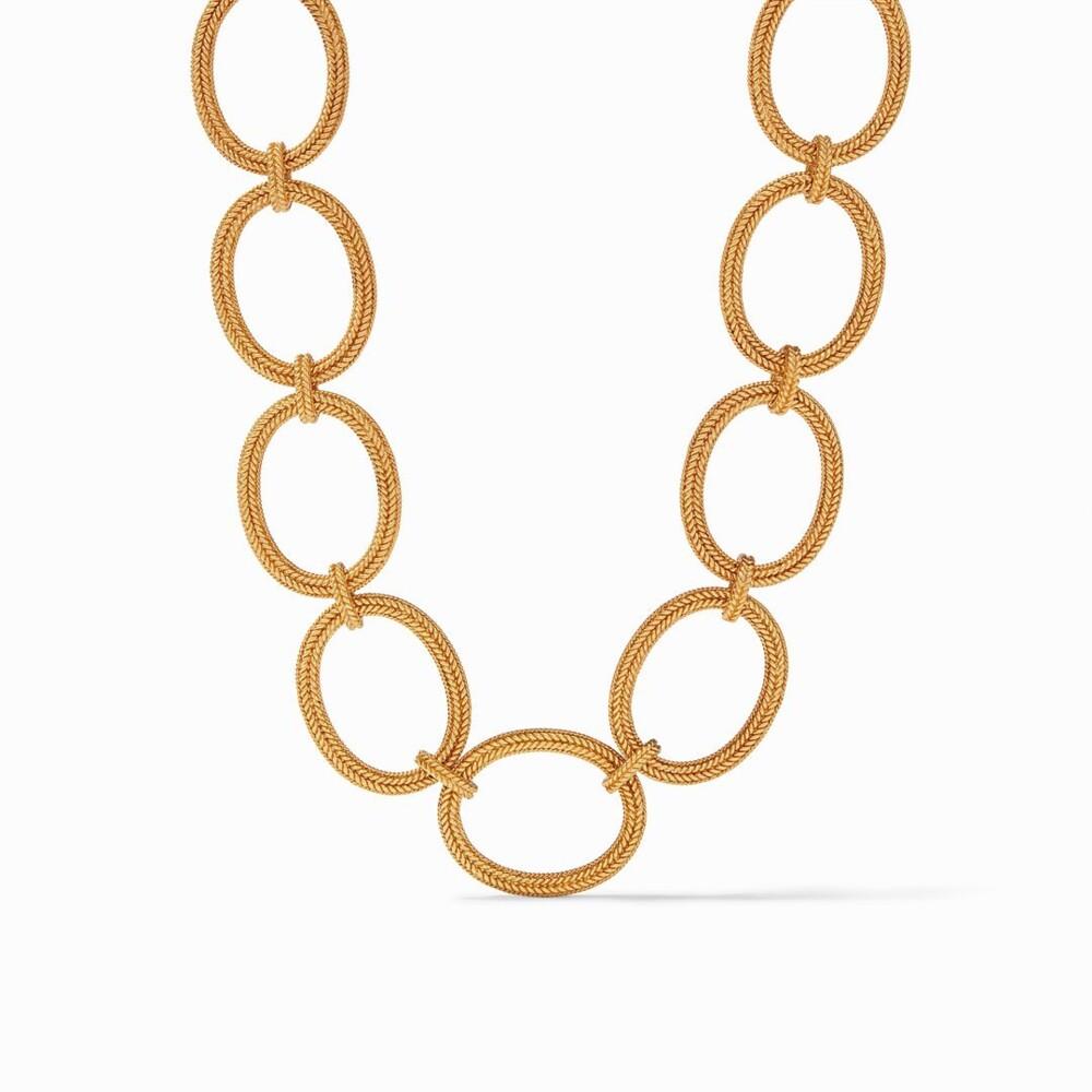 Windsor Oval Link Necklace Gold