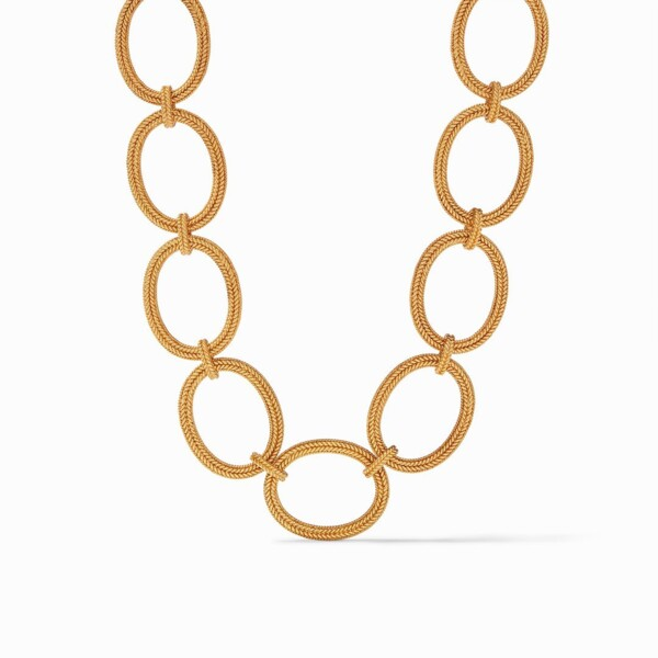 Closeup photo of Windsor Oval Link Necklace Gold