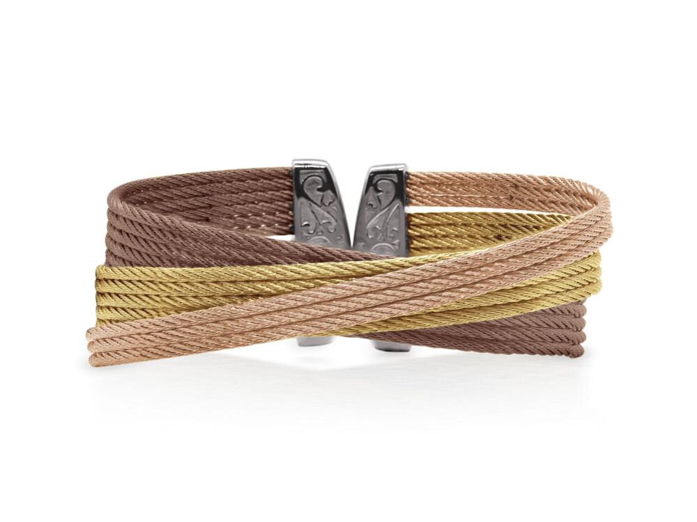 Yellow, Rose, & Bronze Cable Twist Cuff – ALOR