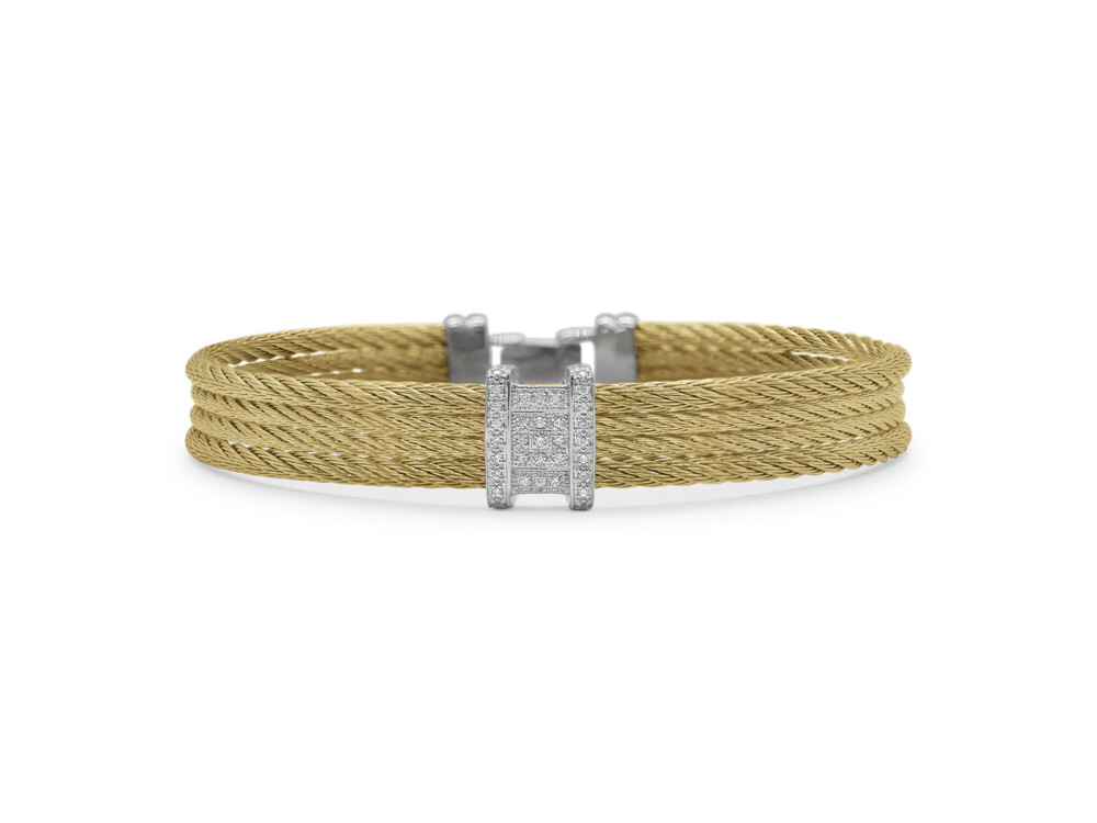 Yellow Cable Diva Bracelet with 18kt White Gold & Diamonds