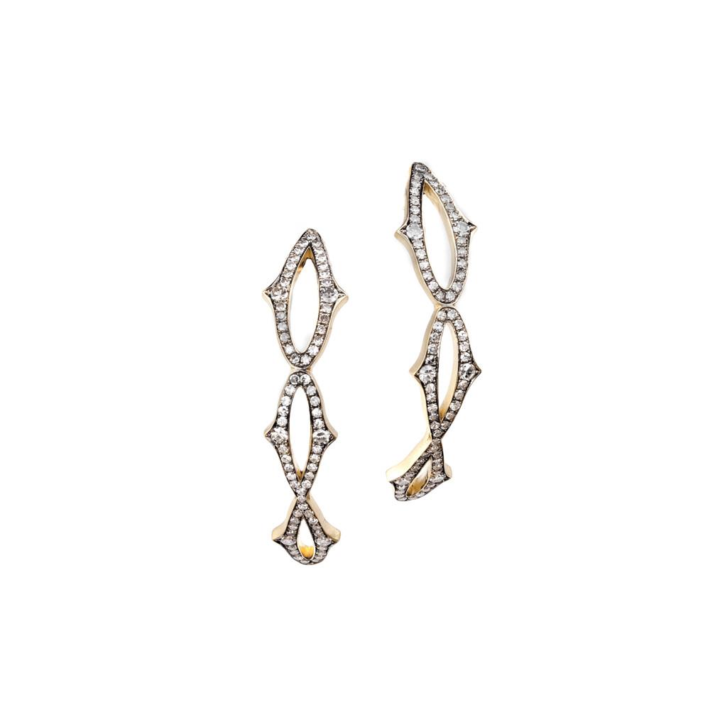 18Kt Lace Hoop Earrings
