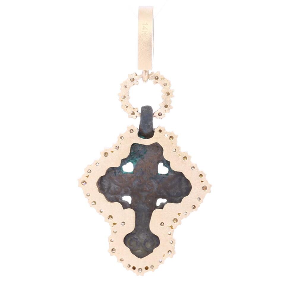 Ancient Small Bronze Cross Pendant