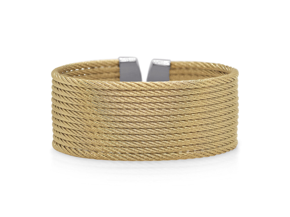 Yellow Cable 12-Row Cuff – Yellow