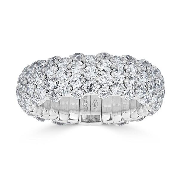 Closeup photo of Medium Diamond Domed Stretch Ring