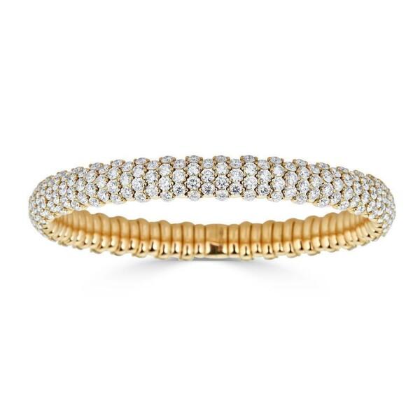 Closeup photo of Diamond Domed Stretch Bracelet