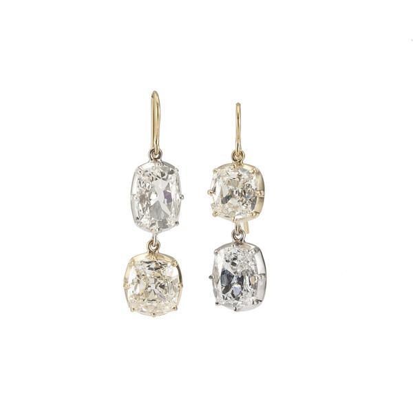 Closeup photo of Large Diamond Drop Earrings