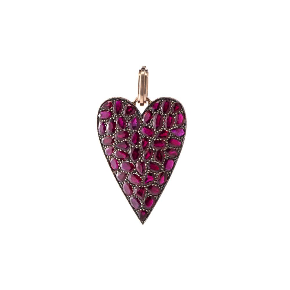 Burmese Ruby Heart Pendant
