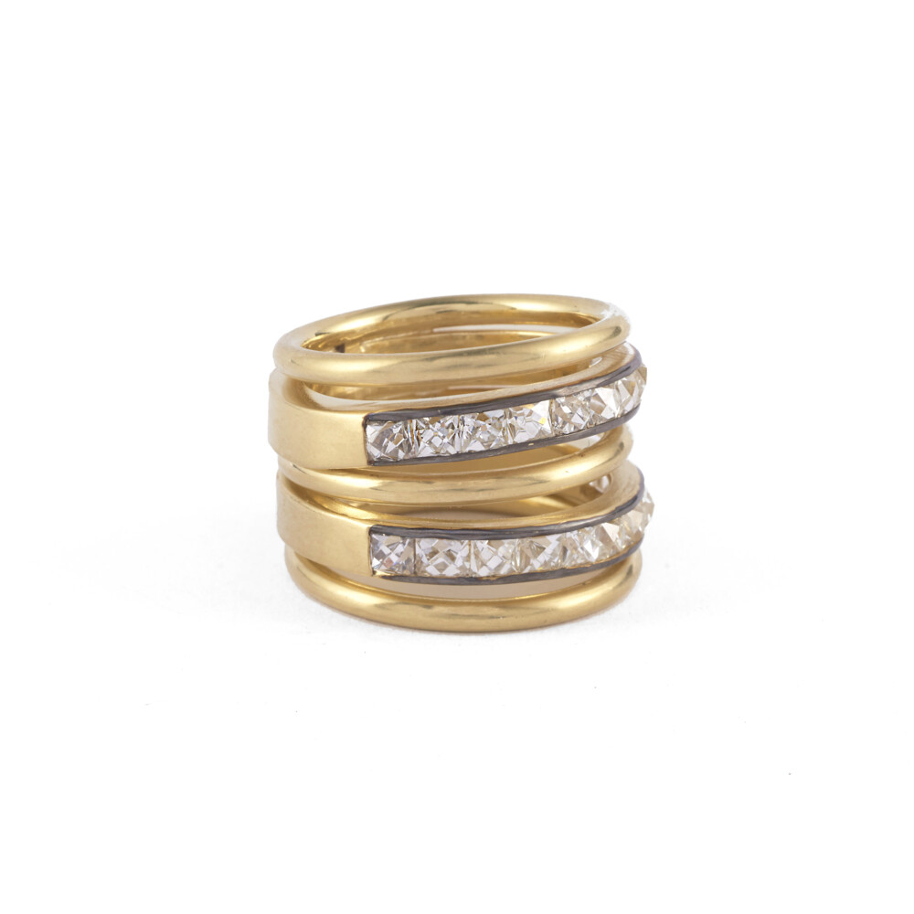 2.7mm French Cut Spiral Ring