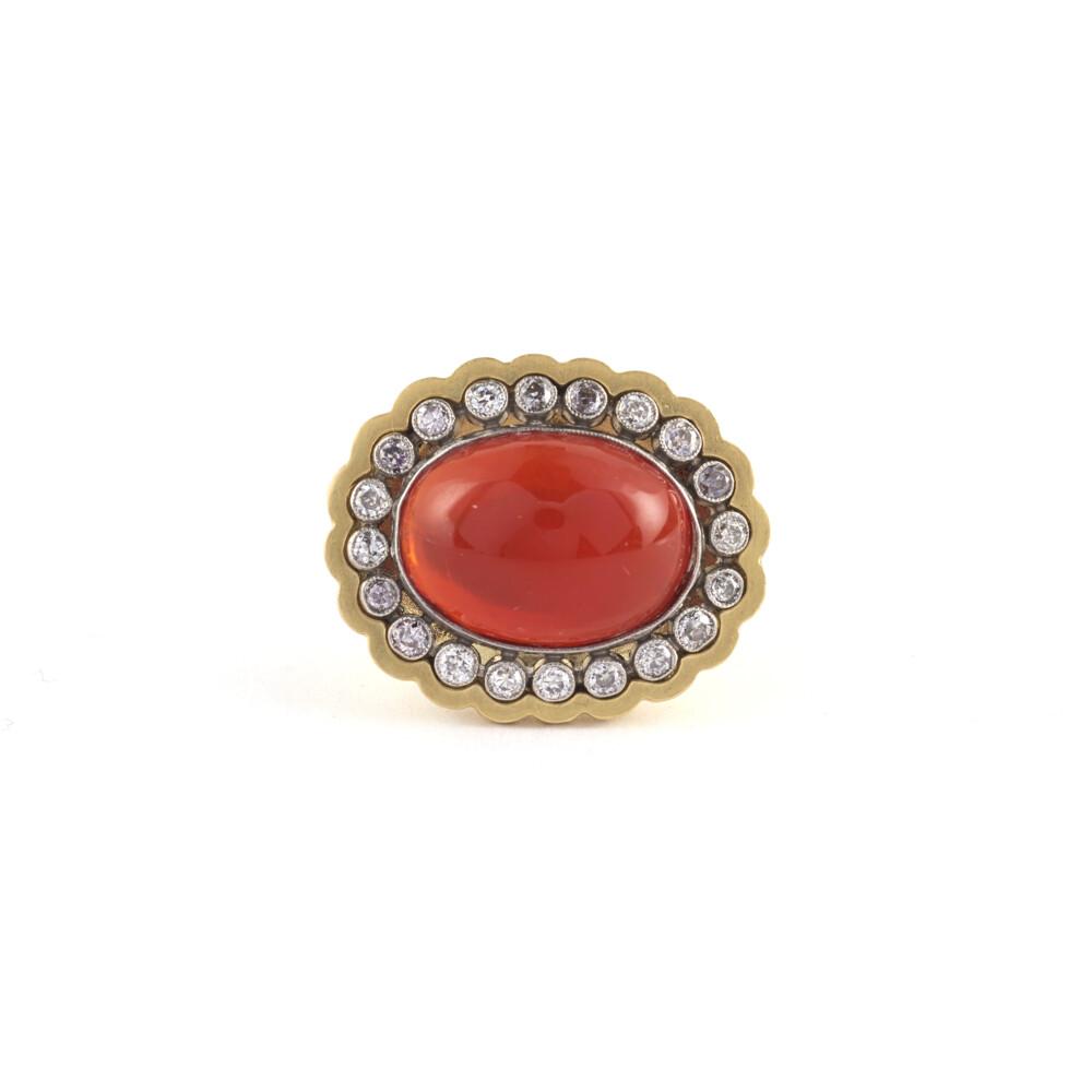 Mexican Opal Art Deco Ring