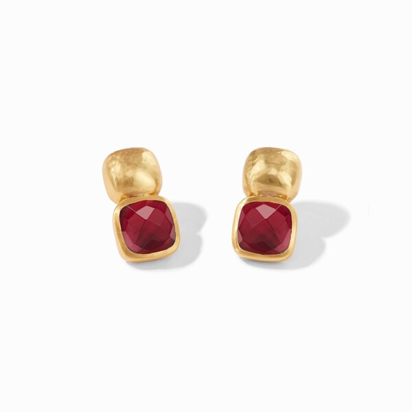Closeup photo of Catalina Earring - Ruby Red