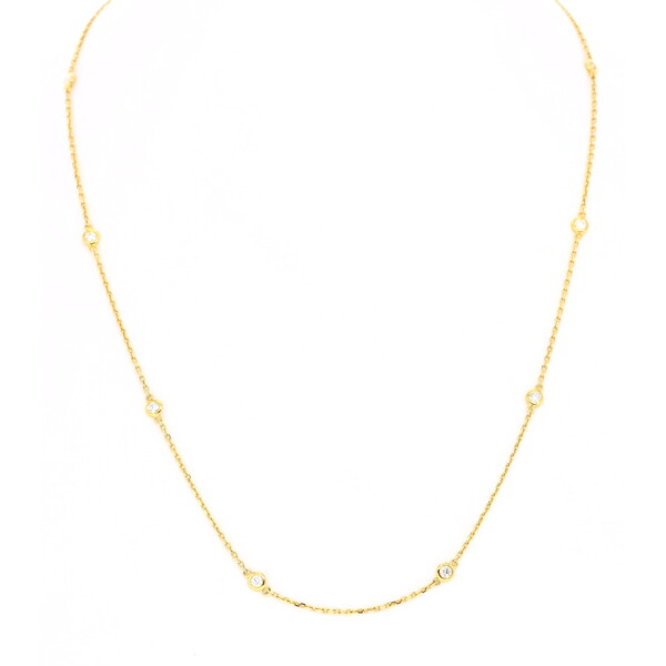 "Closeup photo of 18k DBTY Necklace 10 Diamonds 18"""