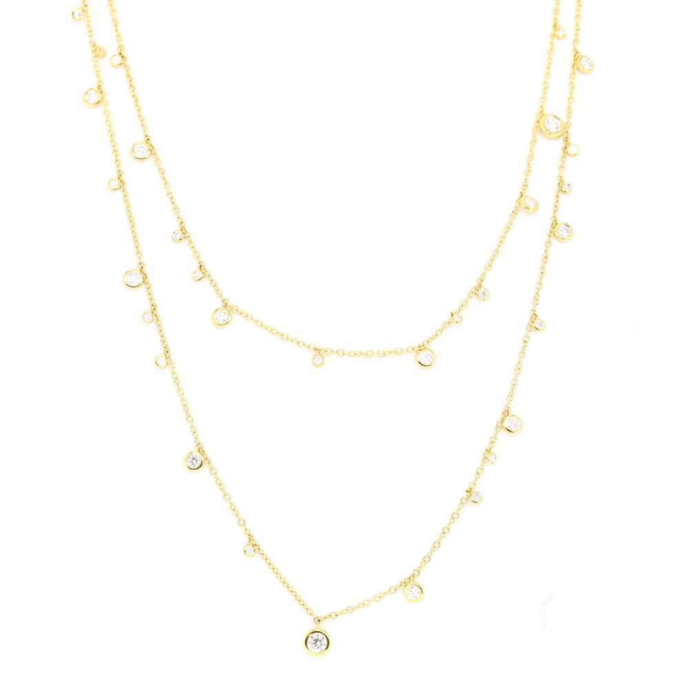 "36"" Dangling Diamond Necklace"