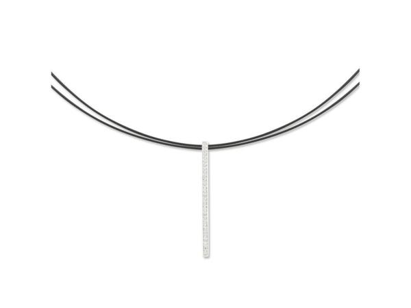 Closeup photo of Noir Diamond Bar Necklace