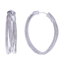 Closeup photo of Large Oval Hoop Earrings