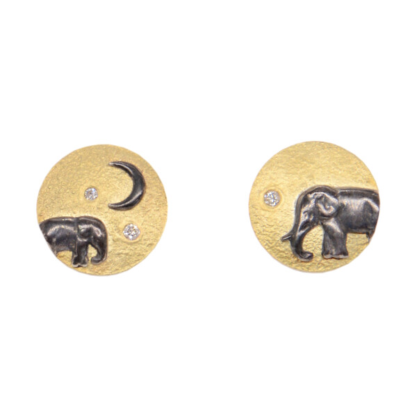 Closeup photo of Mother and Baby Elephant Studs