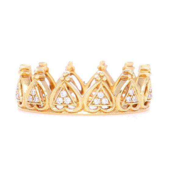 Closeup photo of Diamond Beverley K Crown Ring