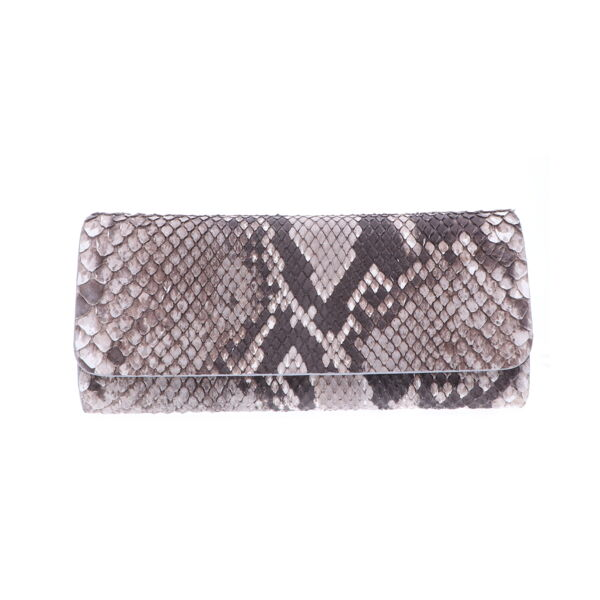 Closeup photo of Natural Python Evening Clutch