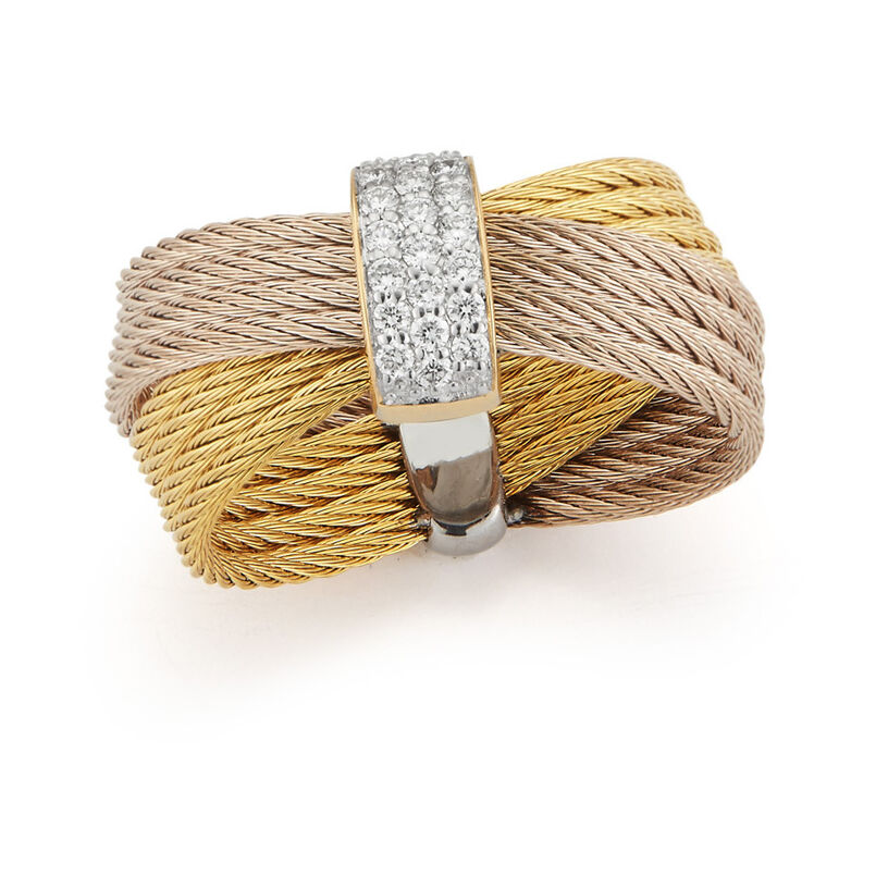 Image 2 for Criss-Cross Band Ring