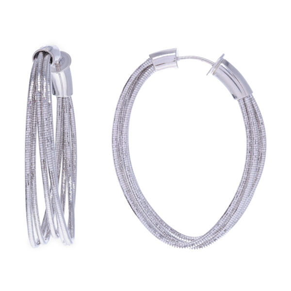 Closeup photo of Small Oval Hoops
