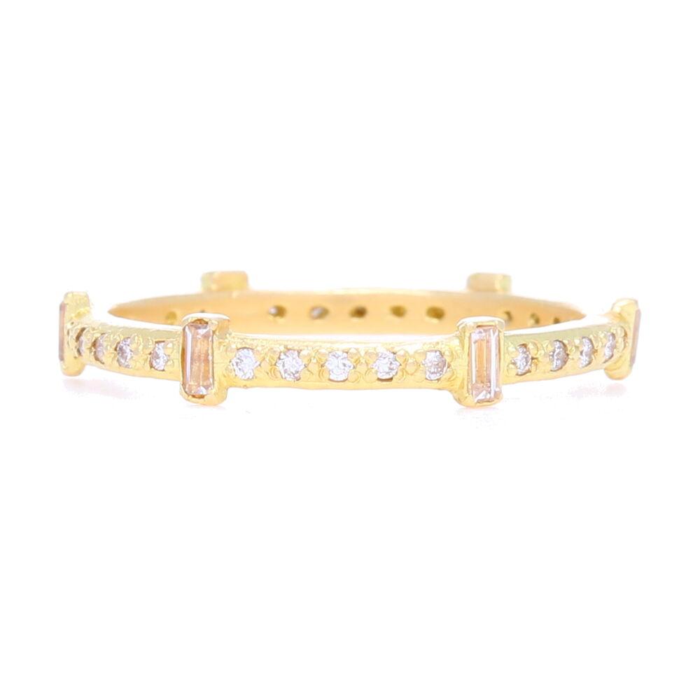 Sueno 18k Gold Diamond & Sapphire Stack Ring