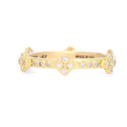 Closeup photo of Crivelli Cross Stack Diamond Ring