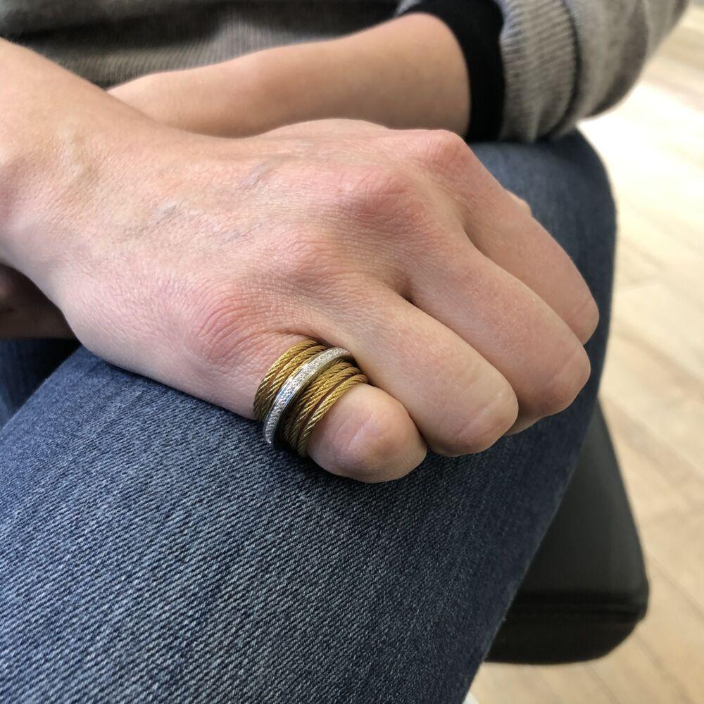 Diamond Band & Stacked Ring
