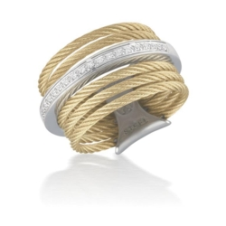 Closeup photo of Diamond Band & Stacked Ring